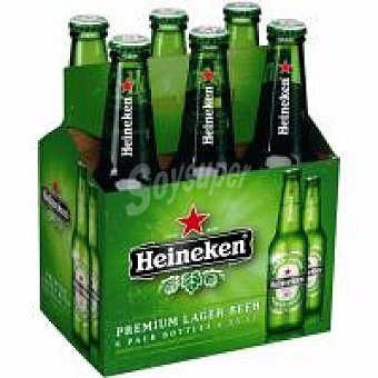 Heineken Cerveza holandesa pack 6x33 cl