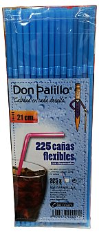 Don Palillo Pajitas flexibles refresco Caja 225 u