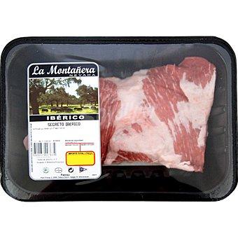 LA MONTAÑERA Secretos frescos de cerdo ibérico peso aproximado bandeja 500 g
