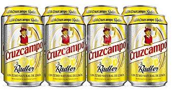 Cruzcampo Cerveza radler con zumo natural de limon Lata pack 8 x 33 cl - 264 cl