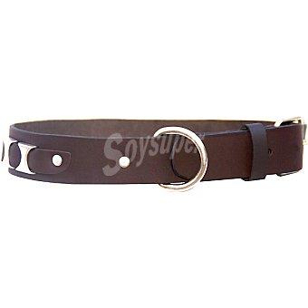 Olay Collar de cuero engrasado para perro color marrón medida 35 cm modelo F32 1 unidad