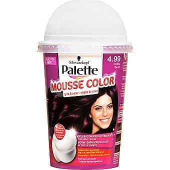Schwarzkopf Palette tinte nº 4.99 Violeta coloración Mousse Color permanente con brillo intenso con perfume afrutado Envase 1 unidad