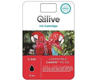 Qilive Cartucho de tinta C-510, compatible con impresoras: PIXMA / MP240 / MP260 / MP480 PIXMA MX / 360