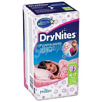 DryNites Braguitas para niñas absorbentes de 4 a 7 años Paquete 10 uds