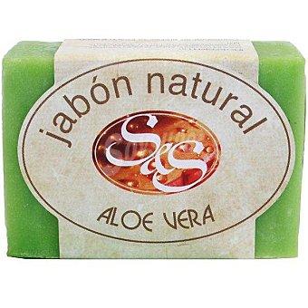S&S Pastilla de jabon natural de Aloe Vera 100 g