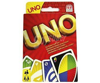 UNO Juego de cartas incluye 108 cartas, de 2 a 10 jugadores mattel