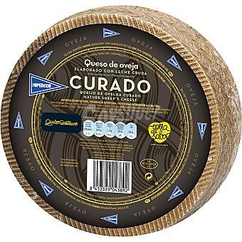 Hipercor Queso castellano de oveja curado elaborado con leche cruda peso aproximado pieza 3,1 kg