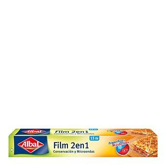 Albal Film transparente 2en1 Rollo de 15 metros