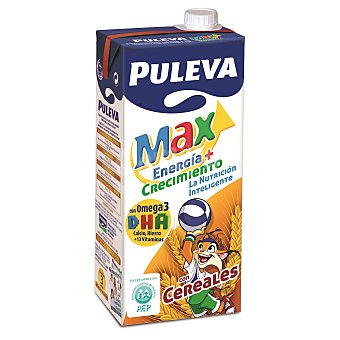 PULEVA MAX Leche con Cereales Brik de 1 l