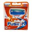 Cargador fusión 12 ud Gillette