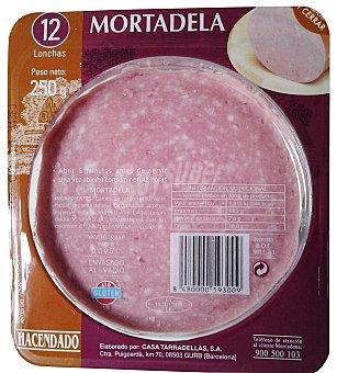 Hacendado Mortadela siciliana lonchas Paquete 250 g