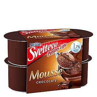 Sveltesse Nestlé Mousse de chocolate Pack 4x64 g