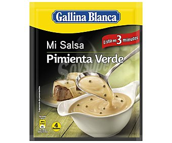 Gallina Blanca Salsa Pimienta Verde Sobre 50 gr