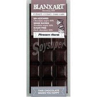 BLANXART Tableta choco negro 60% sin azucar 100 g