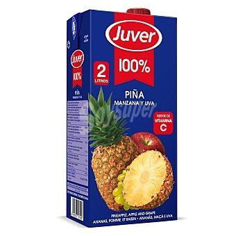 Juver Zumo de piña, manzana y uva 2 l