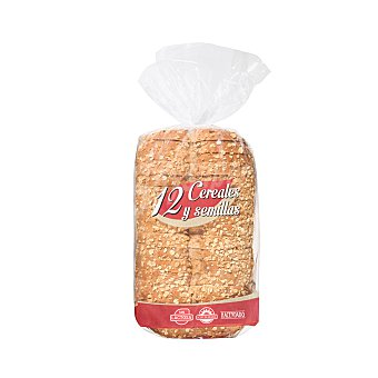 Hacendado Pan molde 12 cereales y semillas 680 g
