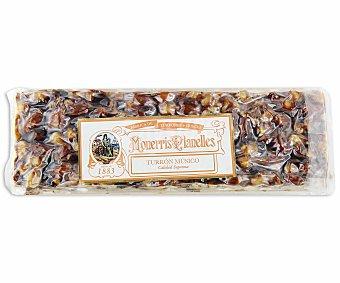 Monerris Planelles Turrón músico de caramelo con frutos secos y pasas 250 gramos
