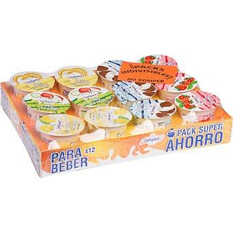 Celgán Yogur líquido sabor a frutas pack 12 unds. 135 g Pack 12 unds. 135 g