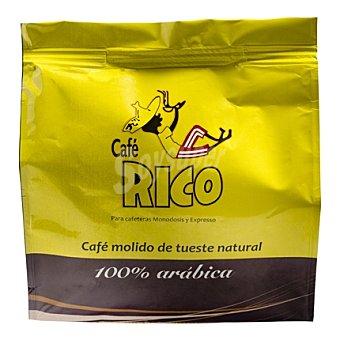 Rico Café molido natural arábica de 7 G Monodosis 16 unidades