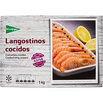 El Corte Inglés Langostino cocido 43-48 piezas estuche 1000 g neto escurrido Estuche 1000 g neto escurrido