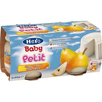 Hero Baby Postre infantil de queso fresco con pera Petit