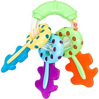 SARO Sonajero de 3 llaves multicolores con mordedor 1 Unidad