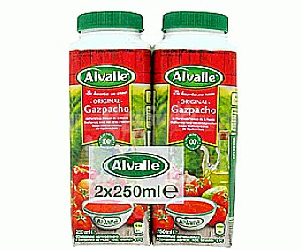 Alvalle Gazpacho original Pack 2x250 ml
