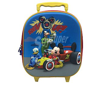 Mickey Disney Mochila con ruedas y tirador de uso escolar, mickey.