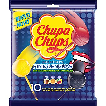 Chupa Chups Lollipops Pintalenguas sabores surtidos  bolsa 120 g
