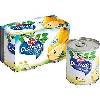 Juver Disfruta peras en almíbar en cuartos sin azúcares añadidos neto escurrido Pack 2 latas 215 g