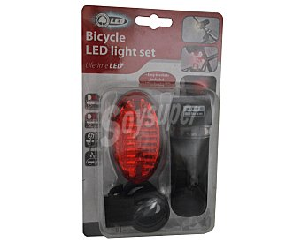 EDCO Juego de 5 luces led para bicicleta, resistentes y fáciles de instalar 1 unidad