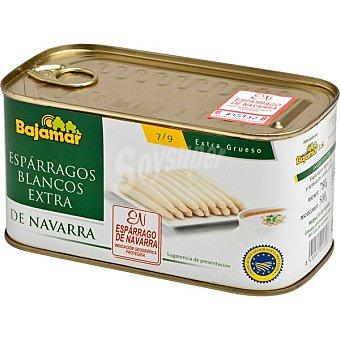 Bajamar espárragos blancos extra gruesos 4-6 piezas D.O. Navarra lata 500 g neto escurrido