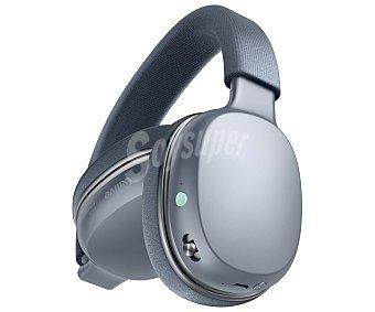 QILIVE Q.1009 Auriculares bluetooth tipo diadema Q1009, micrófono, hasta 17 horas de autonomía, cable de audio, color gris.