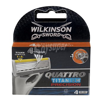 Wilkinson Cargador Quattro Titanium precicion 4 ud