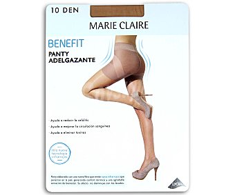 MARIE CLAIRE Benefit Panty fino 10 den, adelgazante,, color scala, talla M