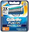 Recambio de cuchillas de 5 hojas para maquinilla de afeitar Gillette Fusion Proglide manual 6 unidades Gillette