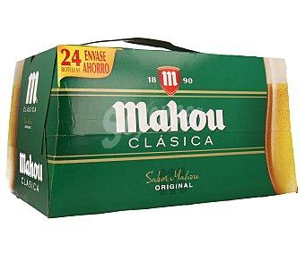 Mahou Cerveza clásica Pack de 24 botellines de 25 centilitros