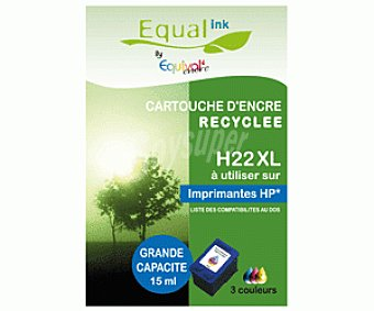 Equalink Cartuchos Reciclados de Tinta H22XL Color 1u