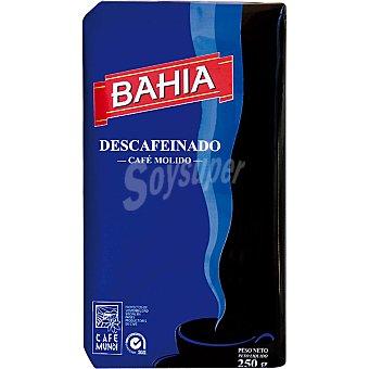 BAHIA Café descafeinado molido Paquete 250 g