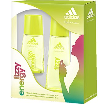 Adidas Eau de toilette natural femenina spray Fizzy Energy 75 ml + miniatura spray 30 ml Spray 75 ml