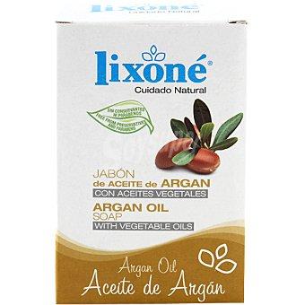 Lixone Pastilla de jabon de aceite de Argan con aceites vegetales Pastilla 125 g