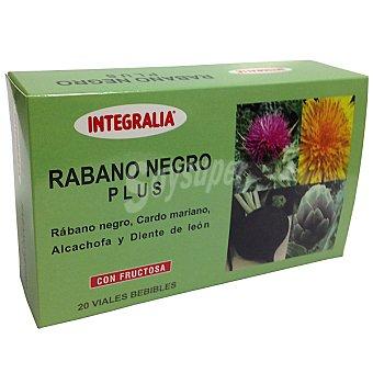 Integralia Rábano negro Plus Cardo mariano alcachofa y diente de león con fructosa 20 viales bebibles Estuche 200 ml