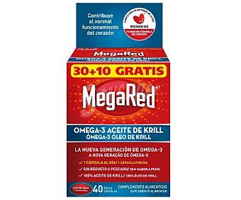 MEGARED Cápsulas de omega-3 y aceite de krill Tarro 40 unidades