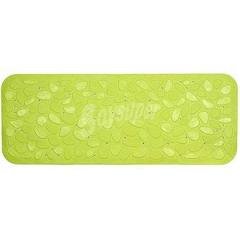 TOYMA Piedras Alfombra baño de caucho en color verde pistacho 95 x 36 cm