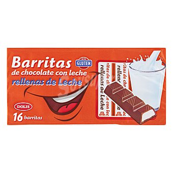 Dolis Chocolatina barrita con leche Paquete 16 u