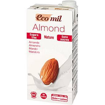 ECOMIL Bio Nature bebida de almendra sin azucar sin gluten y sin lactosa ecologica  envase 1 l