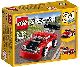 LEGO Juego de construcciones 3 en 1 con 72 piezas Deportivo rojo, Creator 31055 lego