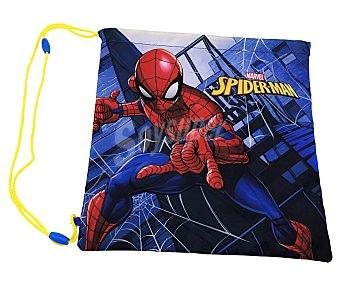Spiderman Marvel Mochila sencilla estilo saquito portatodo infantil, cuerdas ajustables, fabricada con poliéster, diseño spiderman