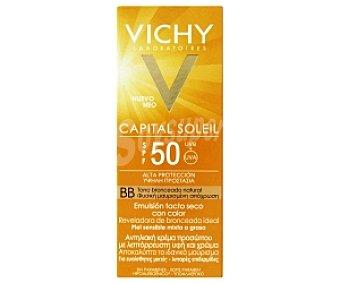 VICHY Capital Soleil Crema Solar (emulsión tacto seco con color). Alta protección FP50 50 Mililitros