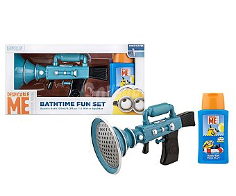 Minions Estuche para baño infantil con pistola de pompas 1 unidad